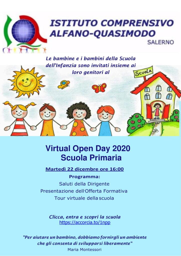 Locandina Open Day Primaria 2020